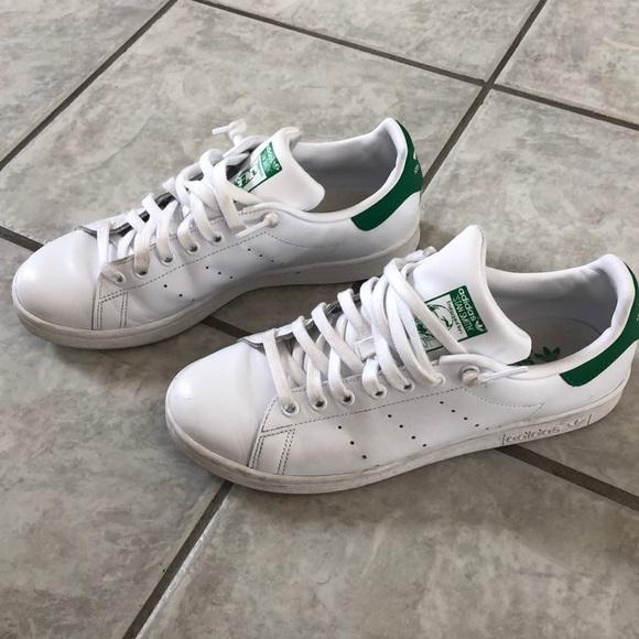 Mens Adidas Stan Smith Shoes Worn Twice! size 7.5
